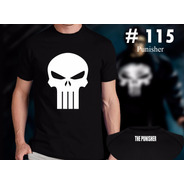 Punisher : Remeras Estampadas De Comics # 115