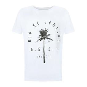 Camiseta Feminina Rio De Janeiro Brazil Blusa Algodão
