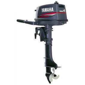 Motor Popa Yamaha 4 Hp 2 Tempos Lancha Barco Bote Pesca