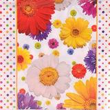 10un Guardanapo Papel Importado Flores Coloridas 33x33cm 20