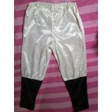 Pantalon Para Disfraz Blanco Con Negro Para Niños O Mujer Xs