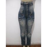 Calça Jeans Cintura Alta Tam 38 Six One Usado Bom Estado