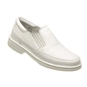 Sapato Branco Em Couro/médicos Enfermeiros Dentistas!!