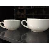 Lote 48 Tazas:24 Café Y 24 Te Porcelana Blanca Extrafuerte