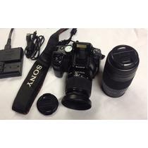 Maquina Fotografica Sony Alpha 100 Lente 18-70 + Obj. 75-300