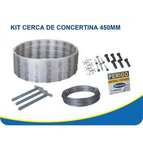 Kit Cerca Concertina Ouriço 45cm P/30m Muro Completo Farpado