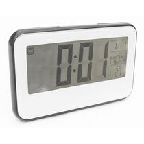Reloj Digital Alarma Luz Led Fechador Numeros Grandes Negro