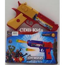 Arma Brinquedo Pistola Nerf Avengens Vingadores + 3 Dardos