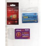 Chips Operadoras Vivo, Tim E Claro.frete R$10 Até 10 Unids.