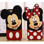 Capa Case Emborrachada Minnie,mickey Iphone 6 6s 4.7 P/vidro