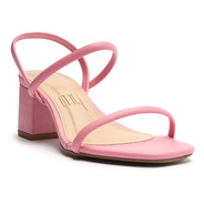 Sandália Feminina Salto Médio Bloco Tiras Elástico My Shoes