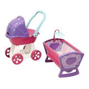 Carriolita Y Cuna Para Muñecas Prinsel Combo Baby
