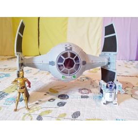 Nave Star Wars Tie Fighter Inquisitor Com R2-d2 E C-3po