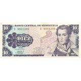 Billete 10 Bolívares Octubre 6 De 1981 Serial D7 - D9991295