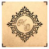 5 Caixas - 15x15x5 Mdf Crú Casamento Brasão E Iniciais