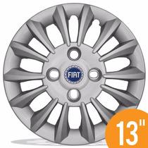 Calota Esportiva 13 Prata 015cb Mod Mercurio Linea Fiat A