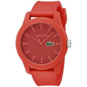Reloj Rojo Lacoste.12.12 Lacoste De Los Hombres Con Textu