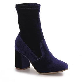 Ankle Boots Feminina Via Marte - Marinho