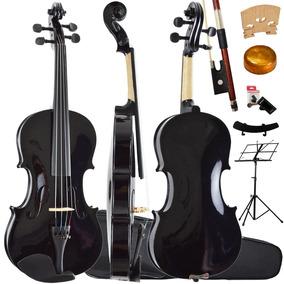Kit Violino 4/4 Tradicional Preto Sverve Ronsani Completo