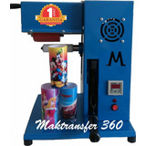 Maquina De Transfer Giro 360 Long Drink Canecas Twister