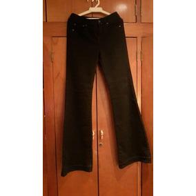 Pantalón Negro Bota Ancha De Dama