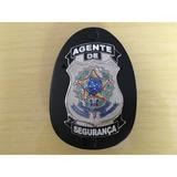 Distintivo Agente De Segurança Letra Branca - Frete Grátis