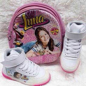 Combo Soy Luna Bolso Y Zapatos Para Niña Tenis Envió Gratis