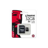 Memoria Micro Sd Con Adaptador Sd Kingston 32gb Clase 10