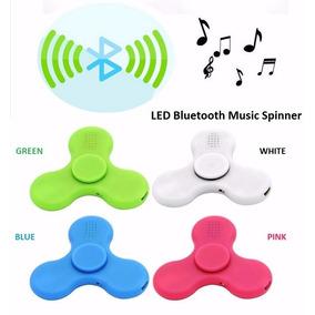 Fidget Hand Spinner Com Led Som Bluetooth Musica Celular