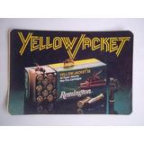 Adhesivo Yellow Jacket Remington 22 Bala Rifle Cartucho 1980