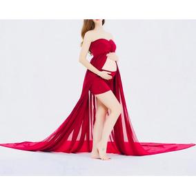 Vestido Fotogragia Gestante Com Short Pronta Entrega