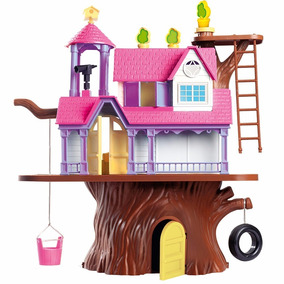 Casa Na Árvore Completa + 4 Bonecos Homeplay 3901 Promoçã