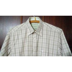 Camisa Poggio Xadrez Manga Curta C Bolso - Nunca Usada