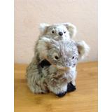 Figura De Koala Con Cría, Pelo Natural