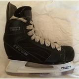 Patins Gelo Hockey Couro Muito Novo!