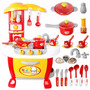 Set Cocina Infantil Horno Luz Sonido Ollas Chef Niño 008-801