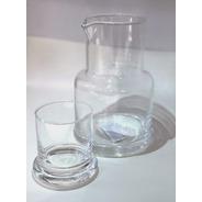Botellón De Vidrio Con Vaso Tapa
