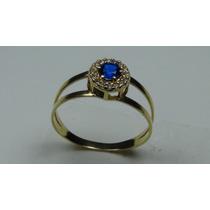 Anel Formatura Com Pedra Azul