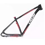 Quadro Caloi Elite Aro 29 Mtb Bike Preto Vermelho Alumínio