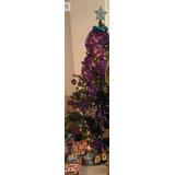 Árbol De Navidad Con Adornos Y Luces Bello