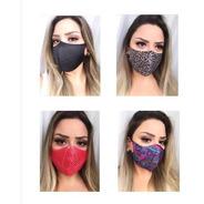 Kit 4 Máscaras Estampas Diversas - Tecido Leve E Confortável