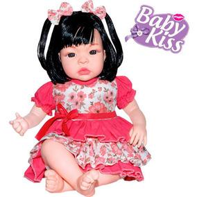 Boneca Bebe Baby Lu Real Tipo Reborn C/ Som E Fala