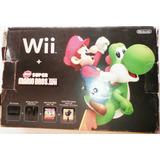 Wii Nitendo Edicion Especial Mario Bross Con Chispeado Caja