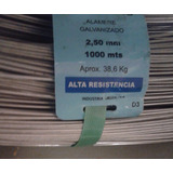 Alambre 17/15 Alta Resistencia 2,5mm Rollo X 1000mts