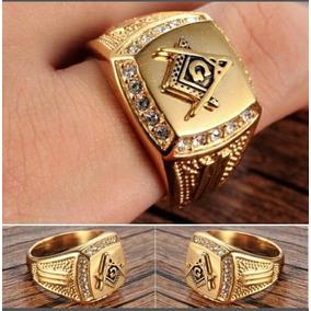 Anel Masonic 2017 Luxo Diamante Ouro Promoção!
