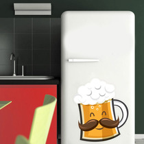 Adesivo Decorativo Geladeira - Cerveja Tamanho P