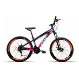 Bicicleta Aro 26 Vikingx X25 21v Shimano Vmax Spinner P Rosa