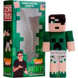 Boneco Tazercraft Mike Youtuber Minecraft Original - Zr Toys