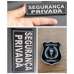 Kit C/ 3 Emborrachados P/capa De Colete Segurança Privada 02