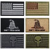Paquete 6 Piezas Moral Militar Tactica Patch Set A